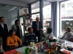 Министър Петков гостува на Дневен център